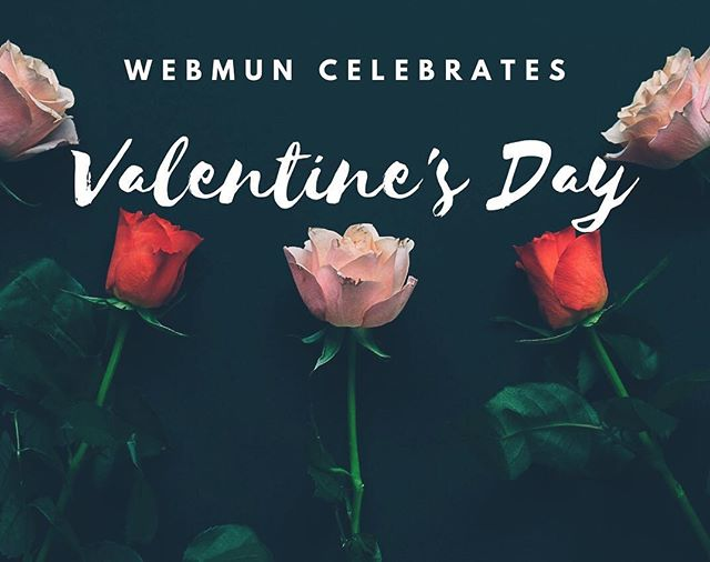 WebMUN would like to invite you to celebrate Valentine's Day with us this Thursday, February 14th! ❤️ • Join us in the IR lounge and the Student Lounge as we will be having chocolates and roses for you throughout the day!🌹 • Hope to see you there! . . . #webmun2019 #revolutionizingwebmuns  #webstervienna #weareallwebster #conference #internationalrelations #modelun #websteruniversity #valentinesday