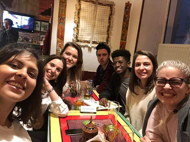 Thanks to everyone who participated in our first international dinner event! It's been a blast to spend the evening together at Cafe Lalibela 😍 • Stay tuned - our next dinner is just around the corner! The WebMUN-Team 😊 . . . #webmun2019 #revolutionizingwebmuns  #webstervienna #weareallwebster #conference #internationalrelations #modelun #websteruniversity #food #ethiopia #culture #intercultural