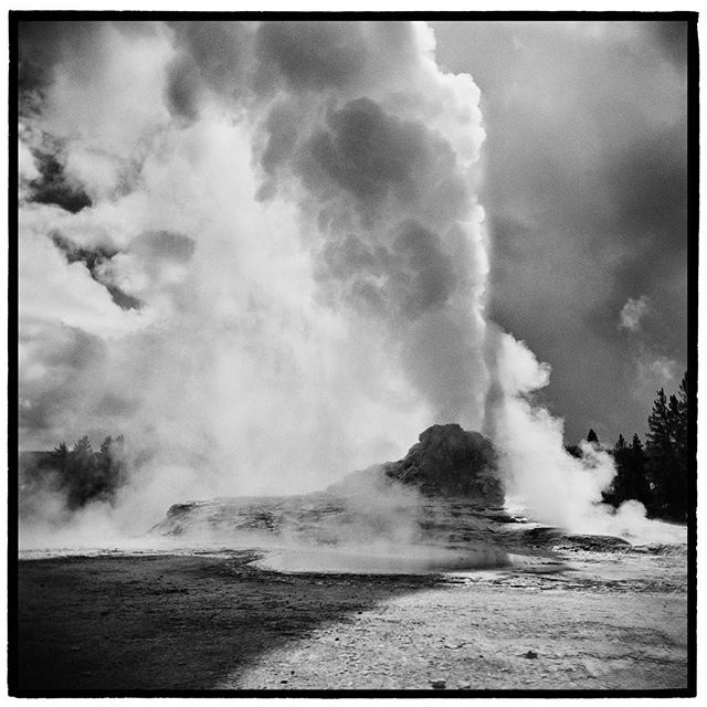 Like a friend who's always late to the party; geysers may not always be on time or predictable but they always show up and when they do show up, they show up in style. Castle Geyser, Yellowstone National Park, Wyoming. * * * * * * @mypubliclands @usinterior #mypubliclands #keepitpublic #protectourpubliclands #findyourpark #usinterior #protectthewild #aperturefoundation #lensculture #blackandwhite #holga #filmisnotdead #mediumformat #filmphotographic #documentary #mytinyatlas #afar #thegreatoutdoors #wildernessculture #americanwest