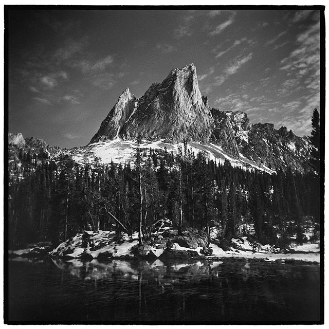 El Capitan, Sawtooth Mountains Wilderness Area, Idaho. * * * * * * * * * * @mypubliclands @usinterior #mypubliclands #keepitpublic #protectourpubliclands #findyourpark #usinterior #protectthewild #aperturefoundation #lensculture #blackandwhite #holga #filmisnotdead #mediumformat #filmphotographic #documentary #idaho #afar #thegreatoutdoors #wildernessculture #americanwest