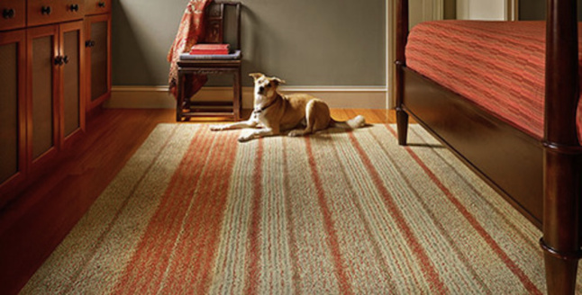 Saving & Co. pure wood rug. (Photo from Houzz)