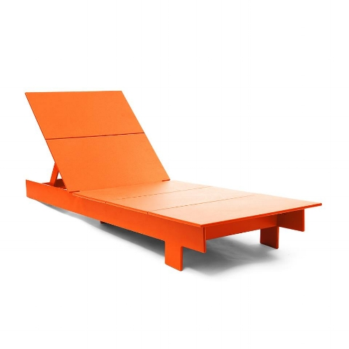 An Loll Designs lounge chair -- in orange!