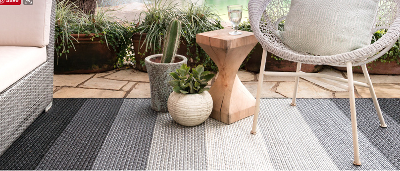 An Loloi Outdoor Rug is the perfect complement to a modern outdoor living space.