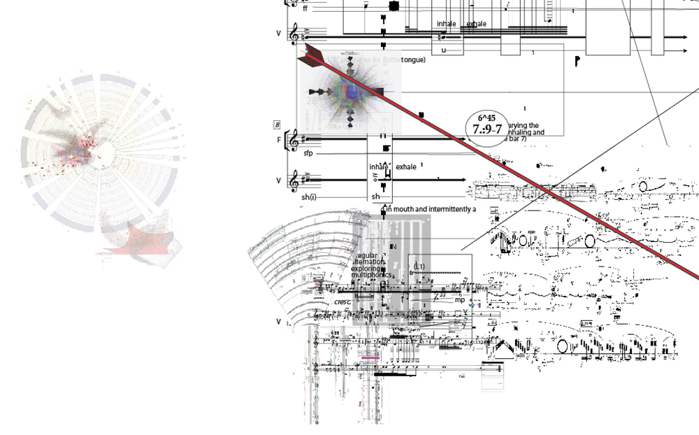 """Excerpt from """"Partitions: Cambics Avlive in Sensient Amplules"""" Bil Smith Composer"""