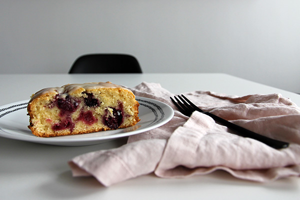 Charm + Fowl: Blackberry Lemon #Cake with Coconut Glaze