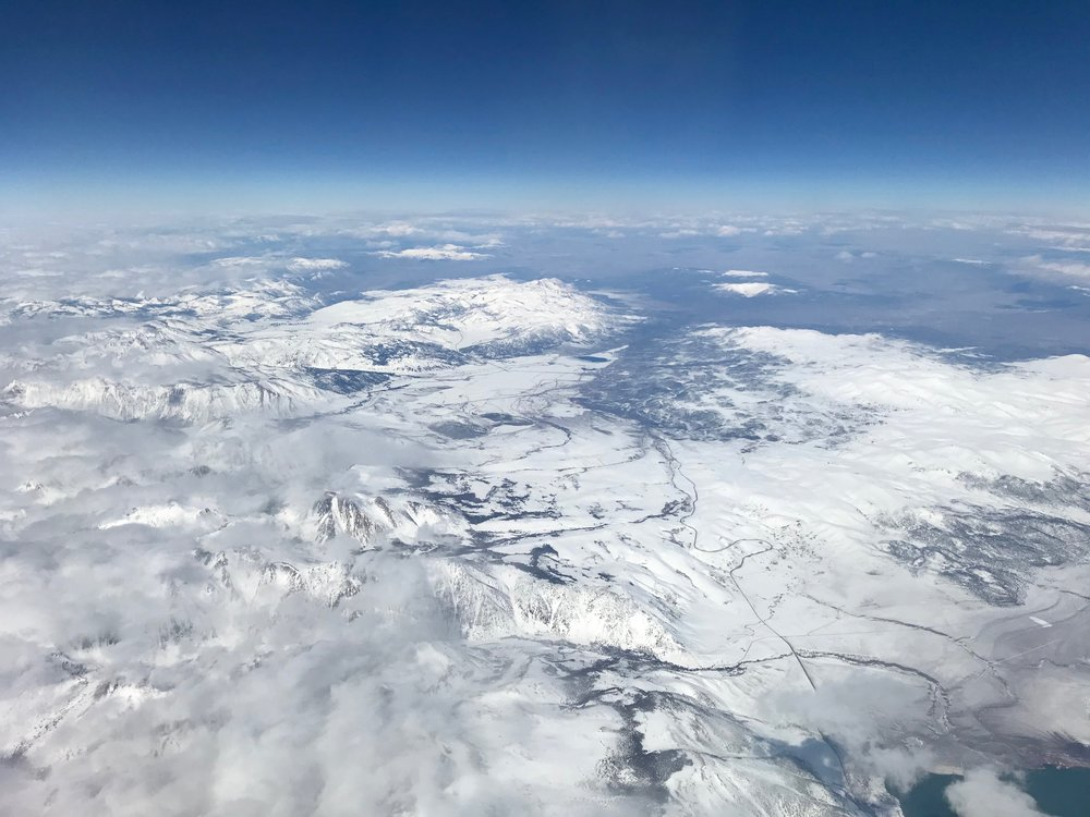 The Sierra Nevada Range has snow!