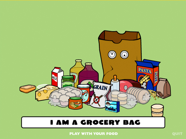 Scene from  I Am a Grocery Bag