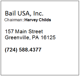 Bail USA, Inc.