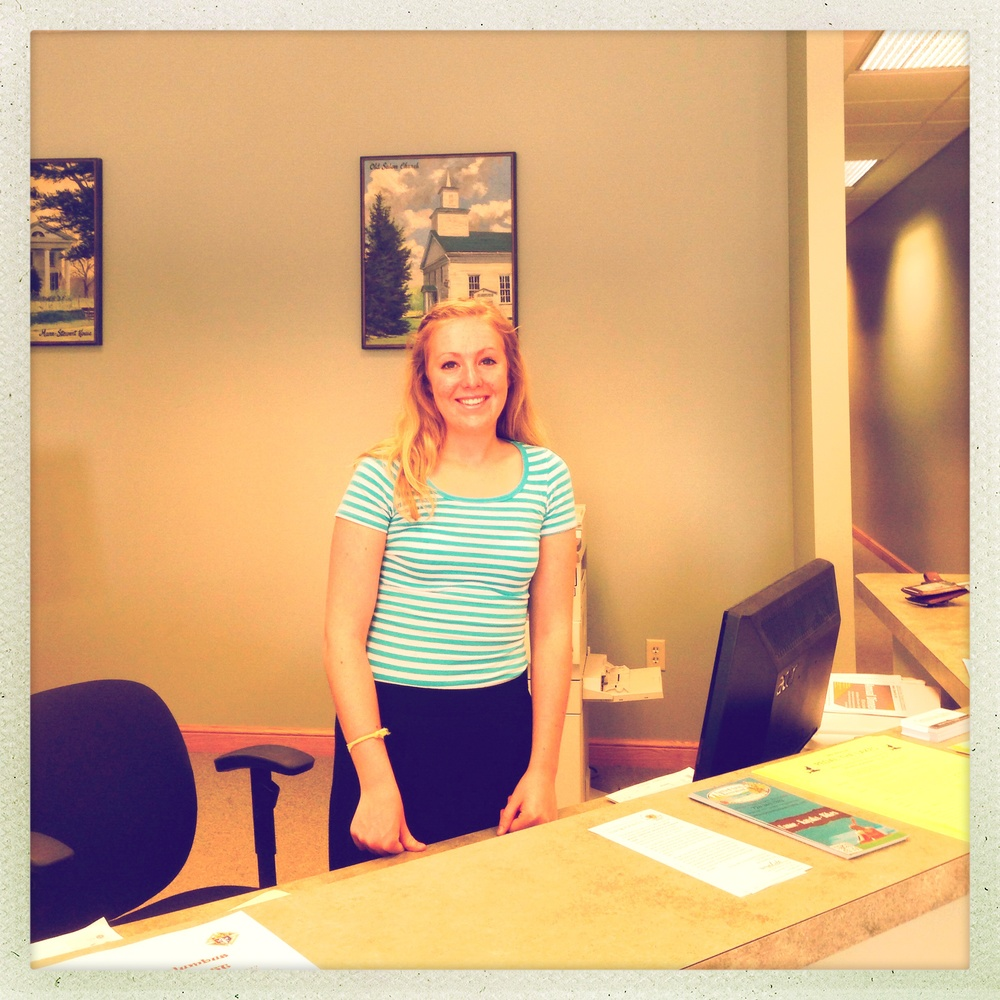 Alexis was this summer's welcoming face if you happened to stop by the office!