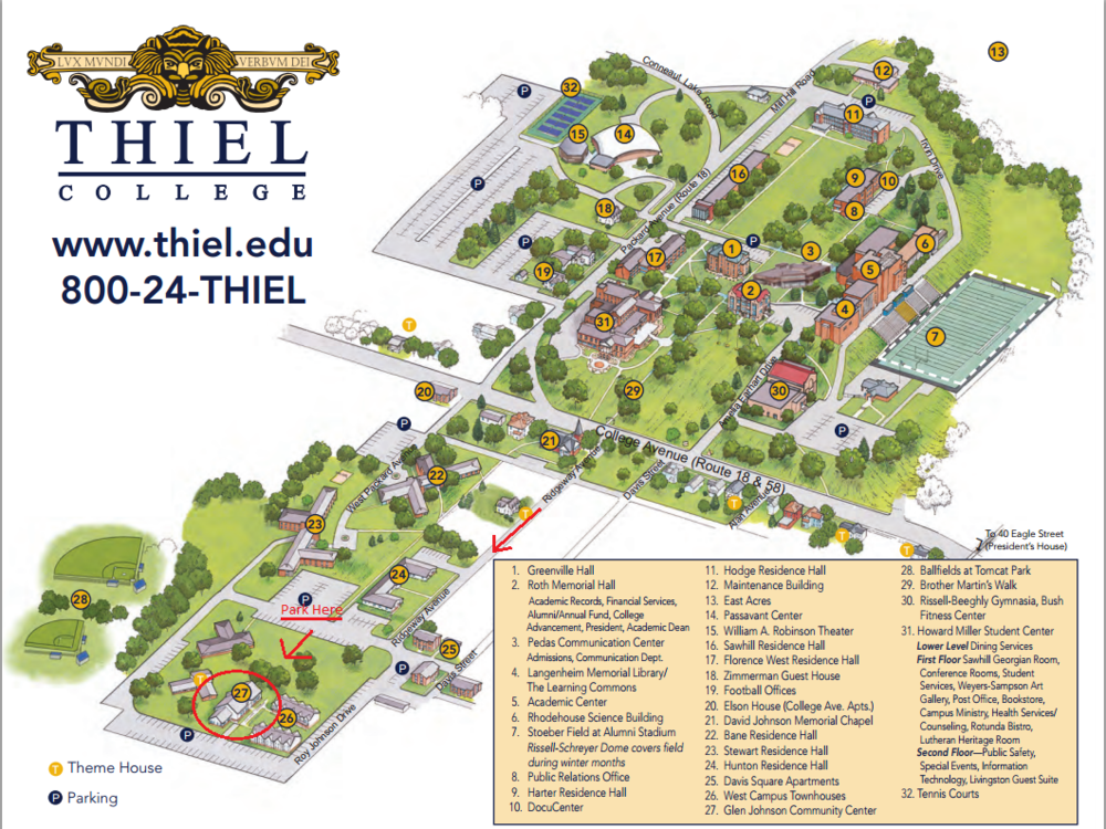 greenville college campus map Thiel College Campus Map Map Of The World greenville college campus map