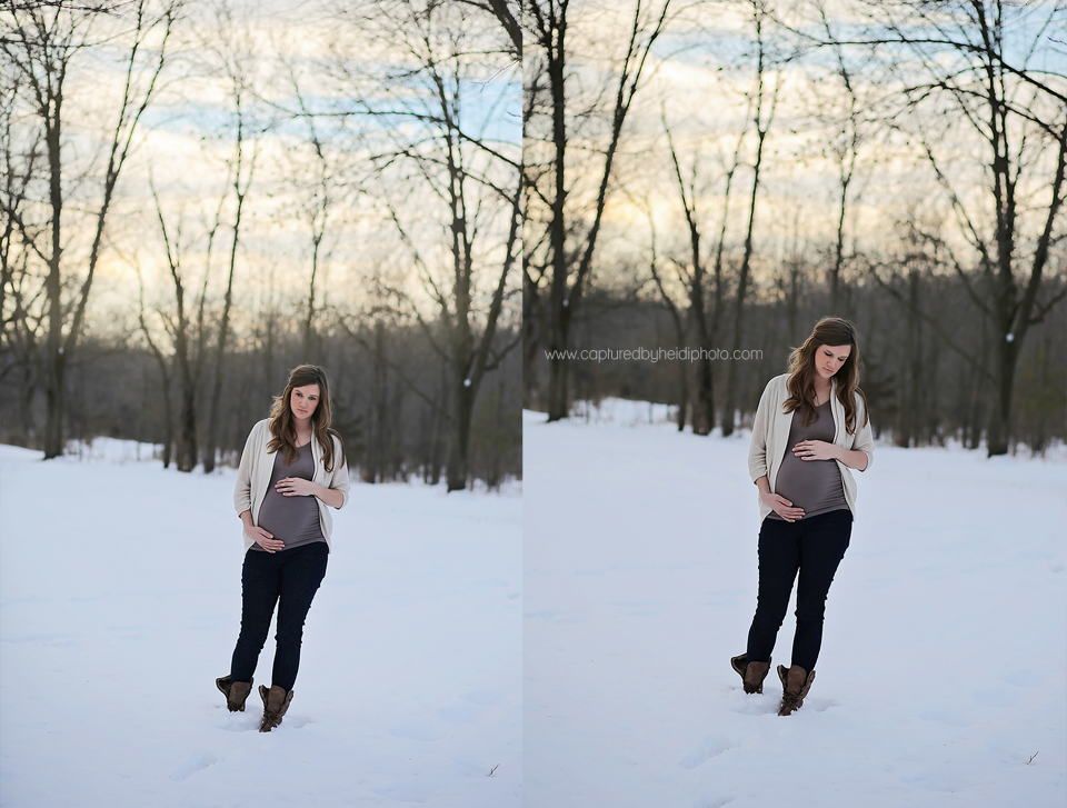 6-central-iowa-maternity-photographer-huxley-ames-ankeny-desmoines-capturedbyheidi-maternity-pictures-in-snow-forest.png