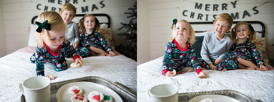 6 central iowa family photographer huxley desmoines ankeny captured by heidi hicks yume cookies christmas minis pajamas santa milk cookies.jpg