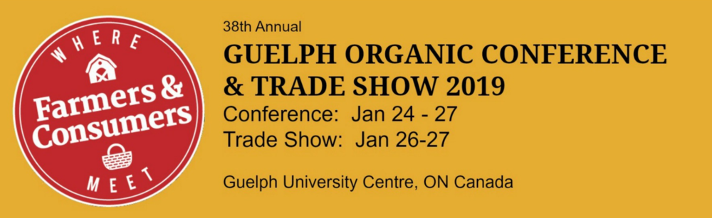 Guelph organic show logo and information