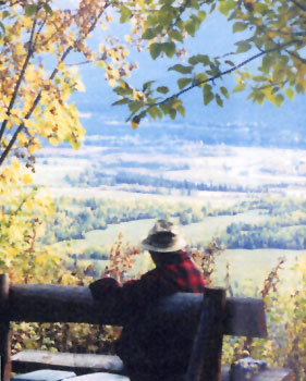 Dr. Betkowski and a view of the Upper Fraser Ranch