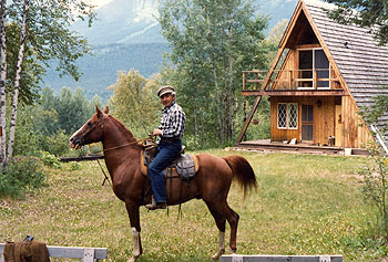 Dr. Betkowski and the Upper Fraser Ranch Chalet, 1970's