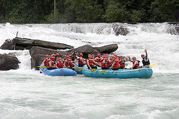 White water rafting on the Fraser River.