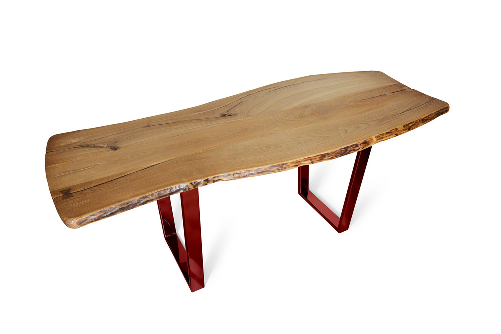 Etz & Steel Chardonnay Live Edge Table Lollypop Red Base 1.jpg
