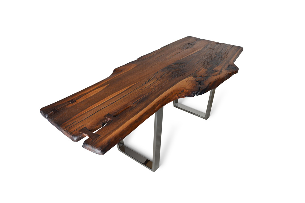Etz & Steel Brown Beauty Live Edge Table Chrome Base 1.jpg
