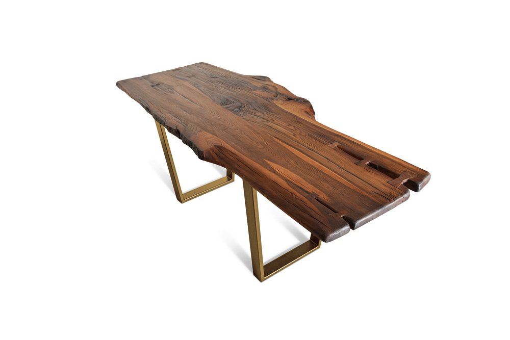Etz & Steel Brown Beauty Live Edge Table Gold Base 1.jpg