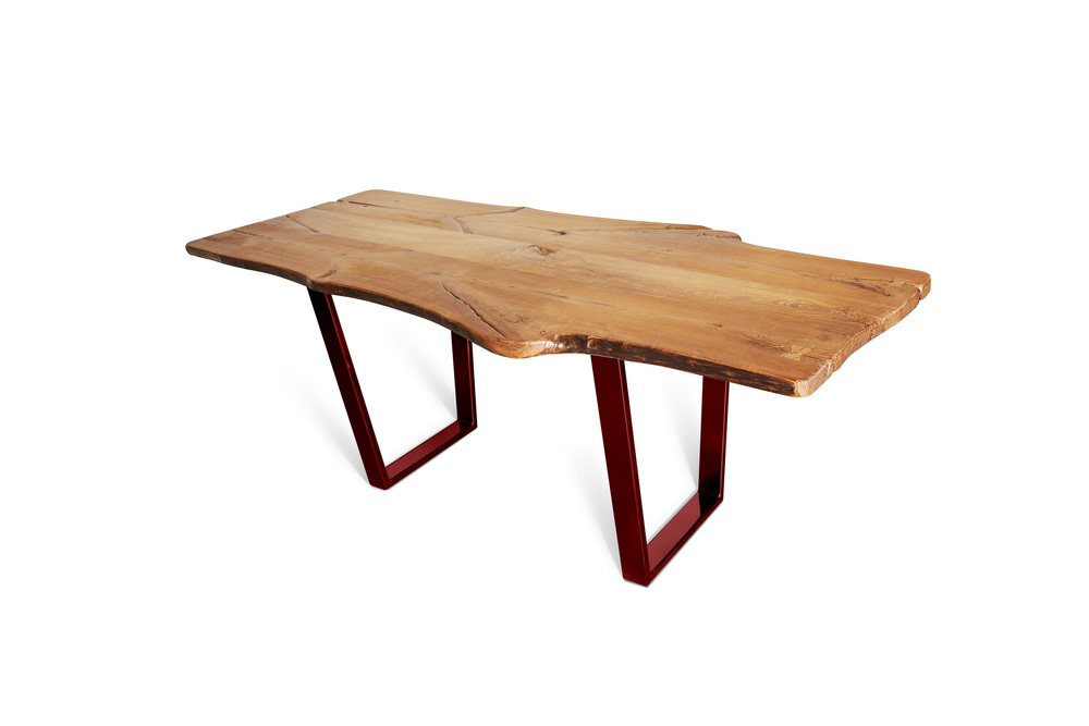 Etz & Steel King Ash Live Edge Table Lollypop Red Base 1.jpg