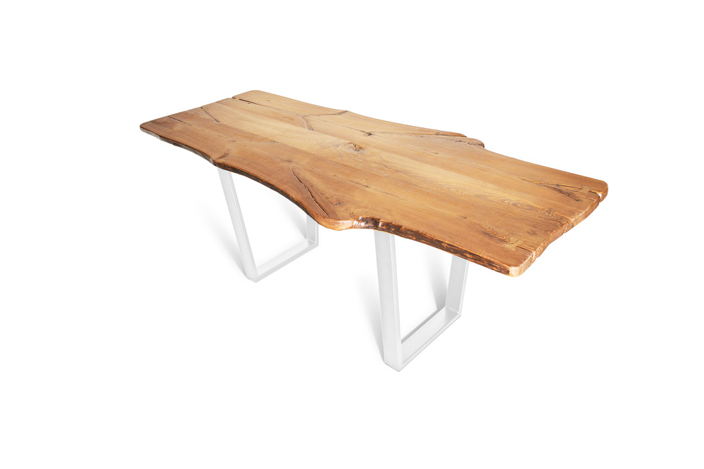 Etz & Steel King Ash Live Edge Table Pearl Sparkle White Base 1.jpg