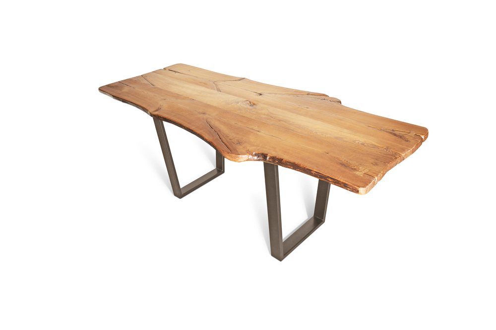 Etz & Steel King Ash Live Edge Table Textured Bronze Base 1.jpg