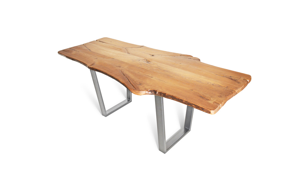 Etz & Steel King Ash Live Edge Table Silver Nickel Base 1.jpg