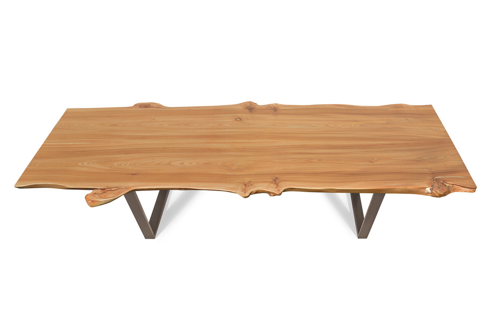 Etz & Steel Wave Live Edge Table Textured Bronze Base 1.jpg