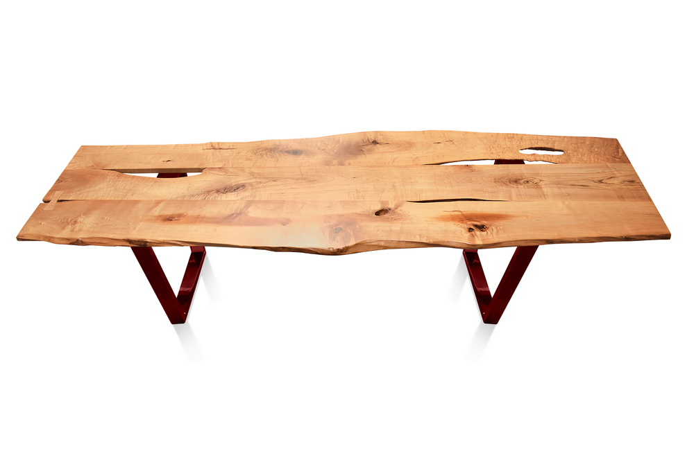 Etz & Steel Baron Live Edge Table Lollypop Red Base 1.jpg