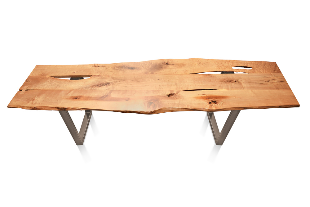 Etz & Steel Baron Live Edge Table Textured Bronze Base 1.jpg
