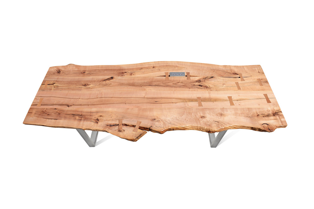 Etz & Steel Rex Live Edge Table Nickel Polish Base 1.jpg