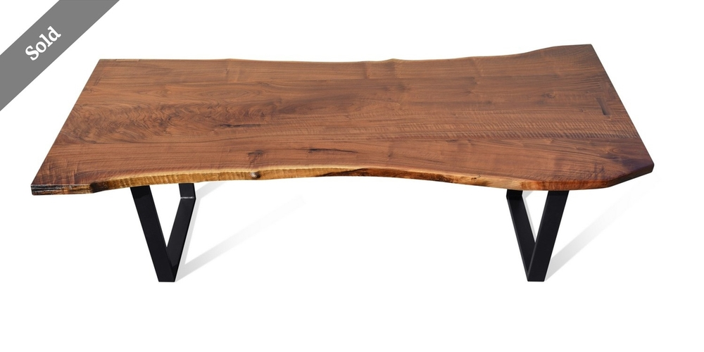 Etz & Steel Diana Live Edge Table SOLD