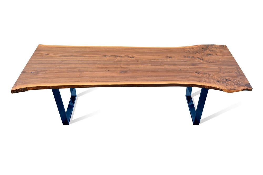 Etz & Steel Hermes Walnut Live Edge Table Blue Base 1.jpg