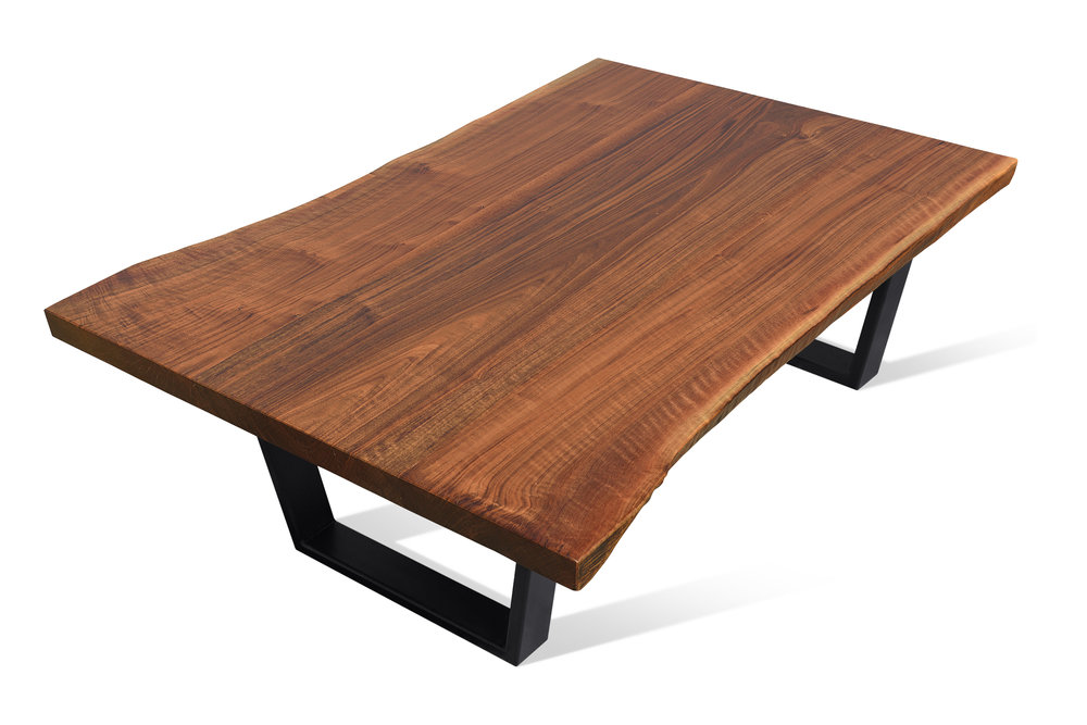 Etz & Steel Iris Live Edge Walnut Coffee Table Black Base 2.JPG