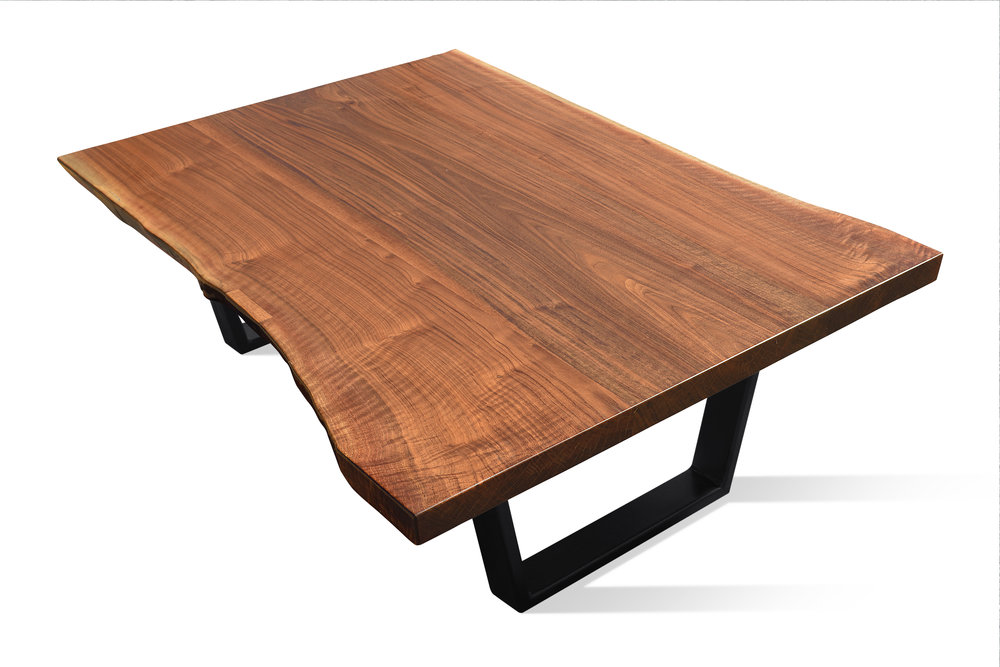 Etz & Steel Iris Live Edge Walnut Coffee Table Black Base 4.JPG