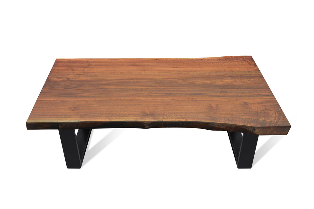 Etz & Steel Iris Live Edge Walnut Coffee Table Black Base 5.JPG