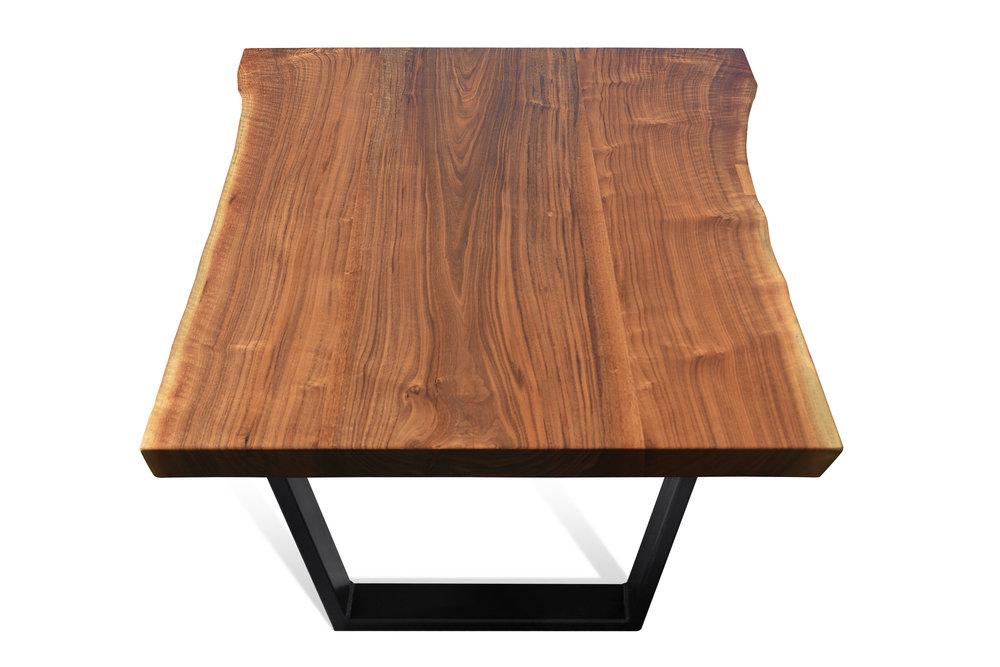 Etz & Steel Iris Live Edge Walnut Coffee Table Black Base 7.JPG