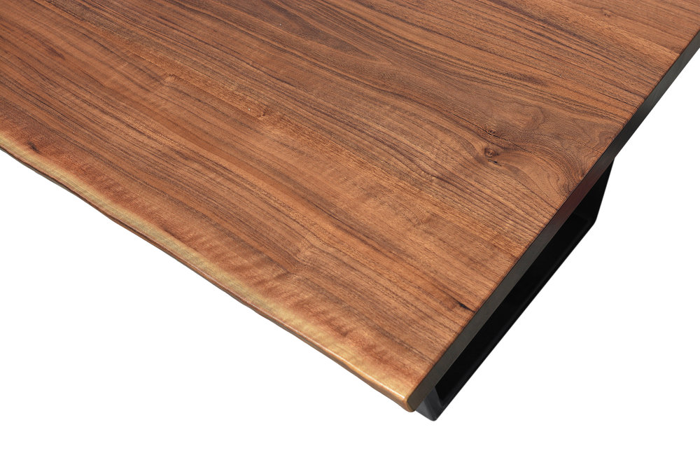 Etz & Steel Iris Live Edge Walnut Coffee Table Close Up 1.JPG