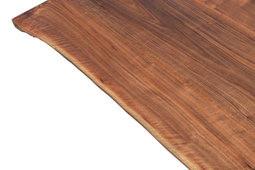 Etz & Steel Iris Live Edge Walnut Coffee Table Close Up 2.JPG
