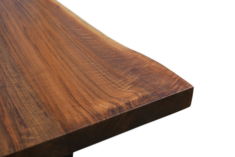 Etz & Steel Iris Live Edge Walnut Coffee Table Close Up 4.JPG
