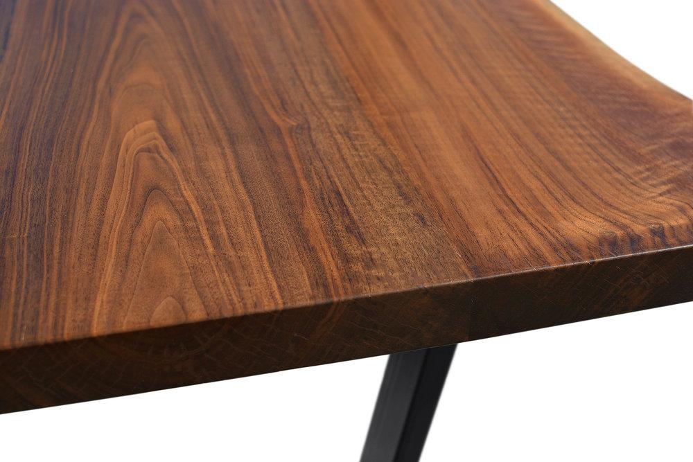 Etz & Steel Iris Live Edge Walnut Coffee Table Close Up 5.JPG