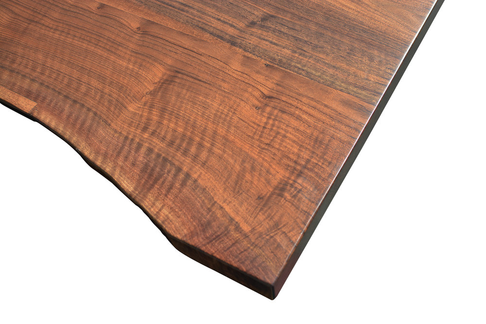 Etz & Steel Iris Live Edge Walnut Coffee Table Close Up 6.JPG