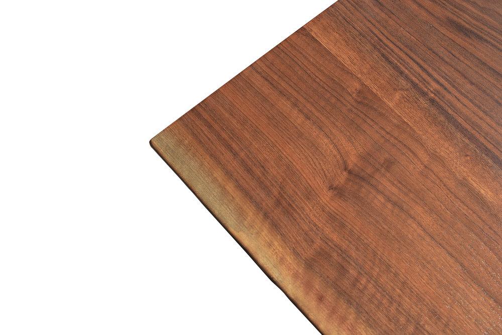 Etz & Steel Iris Live Edge Walnut Coffee Table Close Up 7.JPG