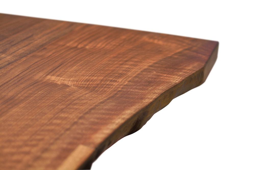Etz & Steel Iris Live Edge Walnut Coffee Table Close Up 8.JPG