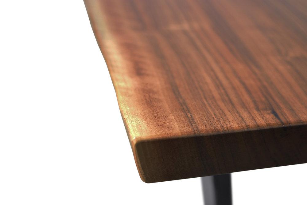 Etz & Steel Iris Live Edge Walnut Coffee Table Close Up 9.JPG