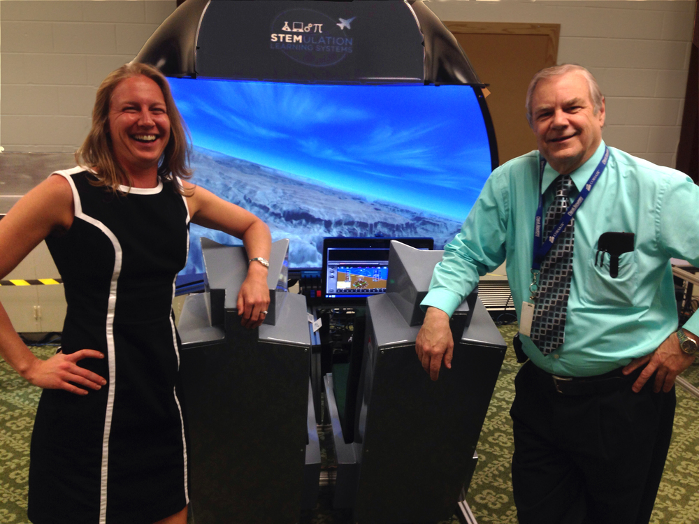 Instructor Valerie King and Colorado District 11 Chief Technology Officer Bill Fisher