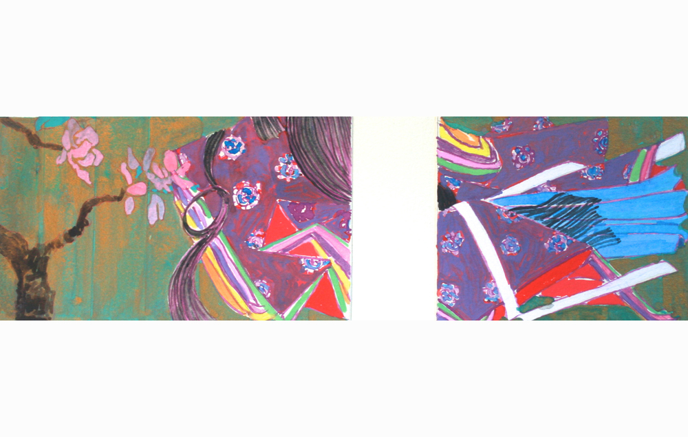 Lady M's Sleeves Diptych
