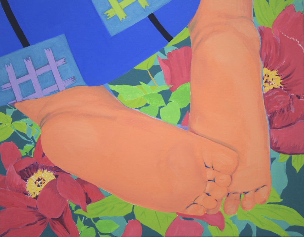 Baby's Feet & Peonies