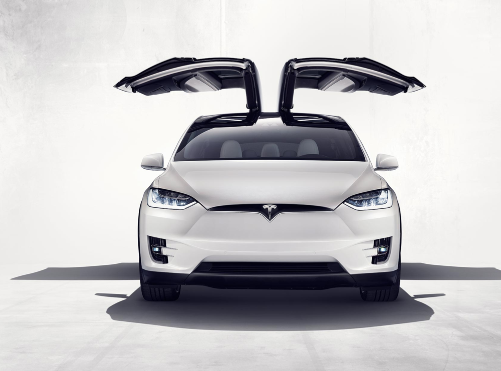 Tesla Model X features 'Falcon wing' rising doors