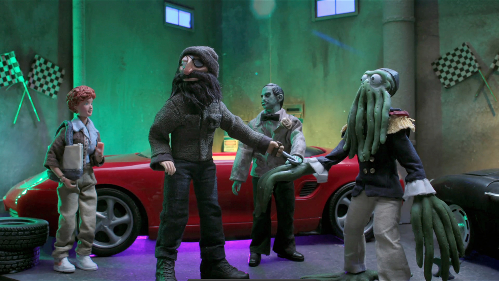 """Hook Man,"" ""Zombie"" & ""Squid Monster"" (new original RC characters). Still,  Robot Chicken  season 7"